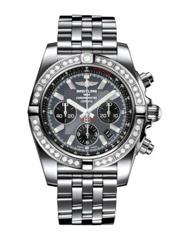Chronomat 44 Stainless Steel / Diamond / Blackeye Gray / Bracelet