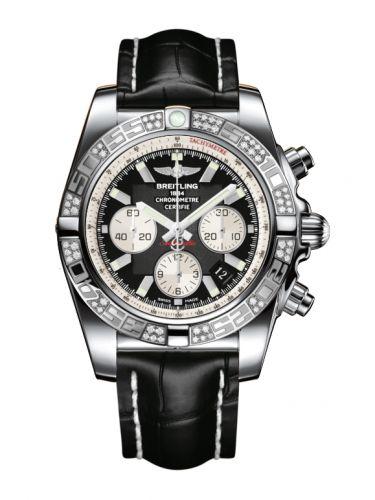 Chronomat 44 Stainless Steel / Diamond / Onyx Black / Croco