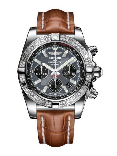 Chronomat 44 Stainless Steel / Diamond / Blackeye Gray / Croco