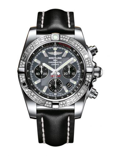 Chronomat 44 Stainless Steel / Diamond / Blackeye Gray / Calf