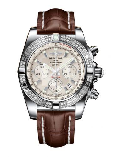 Chronomat 44 Stainless Steel / Diamond / Sierra Silver / Croco
