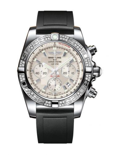 Chronomat 44 Stainless Steel / Diamond / Sierra Silver / Rubber