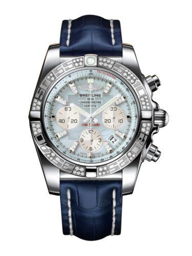 Chronomat 44 Stainless Steel / Diamond / Gray Pearl Diamond / Croco