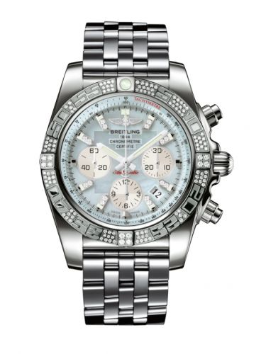Chronomat 44 White Gold / Diamond / Gray Pearl Diamond / Bracelet