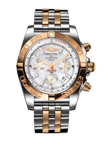 Chronomat 44 Stainless Steel / Rose Gold / Pearl Diamond / Bracelet