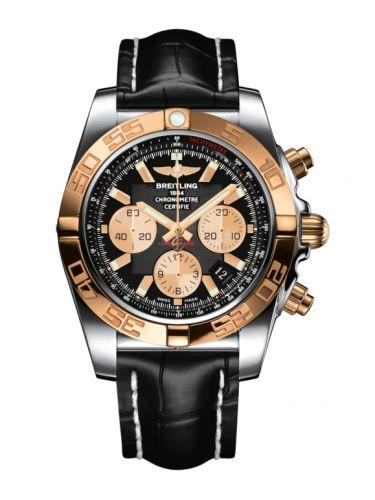 Chronomat 44 Stainless Steel / Rose Gold / Onyx Black / Croco