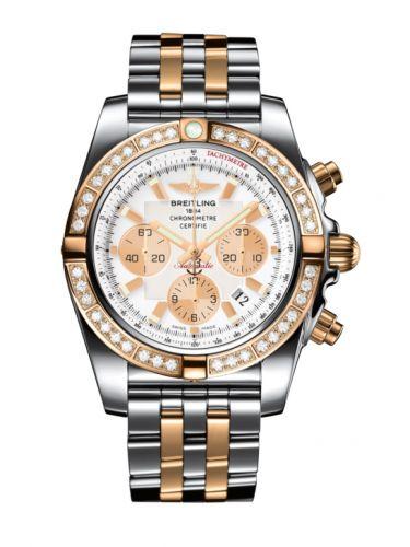 Chronomat 44 Stainless Steel / Rose Gold / Diamond / Antarctica White / Bracelet