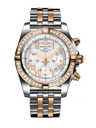 Chronomat 44 Stainless Steel / Rose Gold / Diamond / Pearl Roman / Bracelet