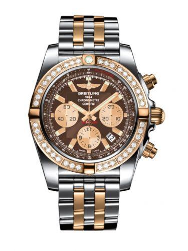 Chronomat 44 Stainless Steel / Rose Gold / Diamond / Metallica Brown / Bracelet