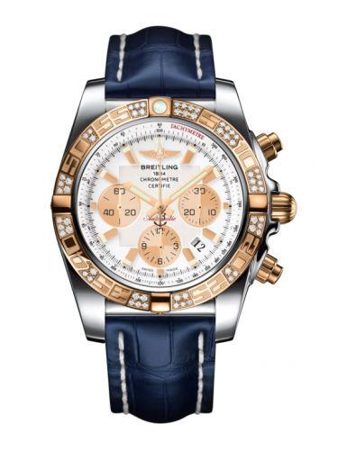 Chronomat 44 Stainless Steel / Rose Gold / Diamond / Antarctica White / Croco