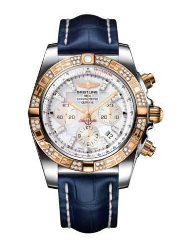 Chronomat 44 Stainless Steel / Rose Gold / Diamond / Pearl Diamond / Croco