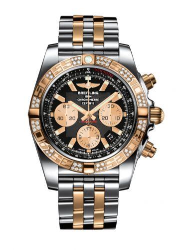 Chronomat 44 Stainless Steel / Rose Gold / Diamond / Onyx Black / Bracelet