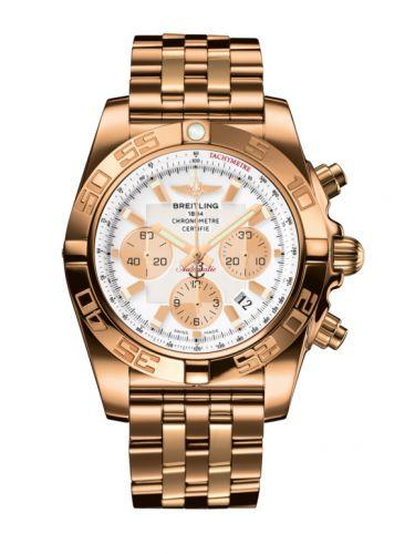 Chronomat 44 Rose Gold / Antarctica White / Bracelet