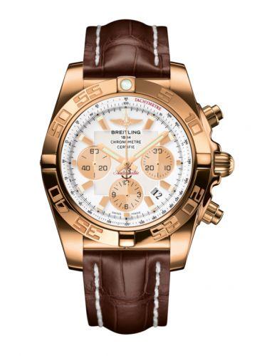 Chronomat 44 Rose Gold / Antarctica White / Croco