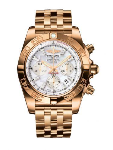 Chronomat 44 Rose Gold / Pearl Diamond / Bracelet