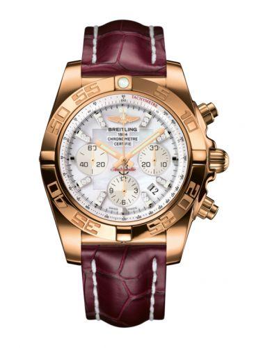 Chronomat 44 Rose Gold / Pearl Diamond / Croco