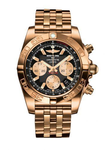 Chronomat 44 Rose Gold / Onyx Black / Bracelet