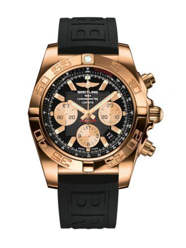 Chronomat 44 Rose Gold / Onyx Black / Rubber