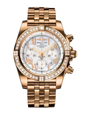 Chronomat 44 Rose Gold / Diamond / Pearl Roman / Bracelet
