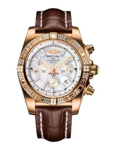 Chronomat 44 Rose Gold / Diamond / Pearl Diamond / Croco
