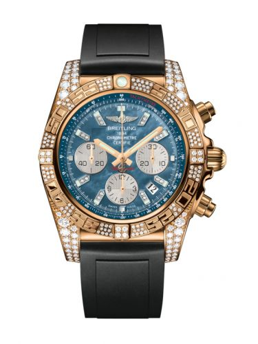 Chronomat 44 Rose Gold Diamondworks / Black Pearl Diamond / Rubber