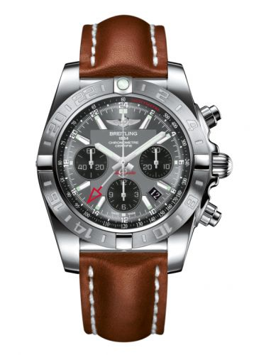 Chronomat 44 GMT Stainless Steel / Blackeye Grey / Calf