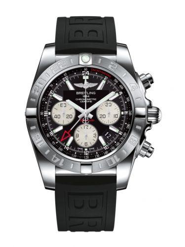 Chronomat 44 GMT Stainless Steel / Onyx Black / Rubber