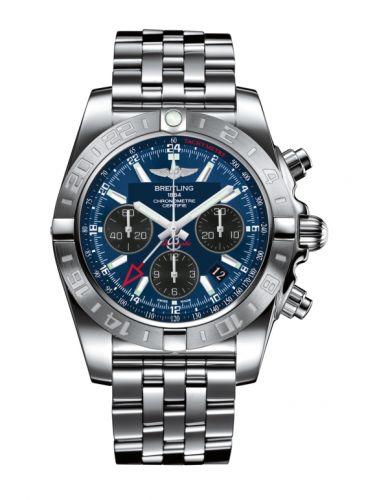 Chronomat 44 GMT Stainless Steel / Blackeye Blue / Bracelet