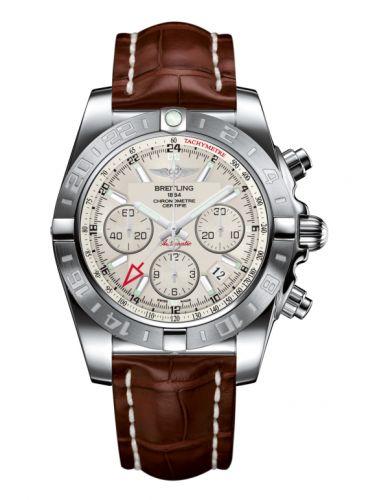 Chronomat 44 GMT Stainless Steel / Sierra Silver / Croco