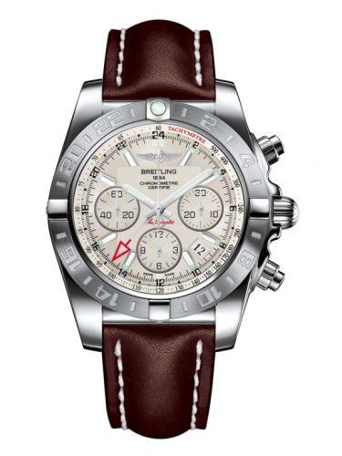 Chronomat 44 GMT Stainless Steel / Sierra Silver / Calf