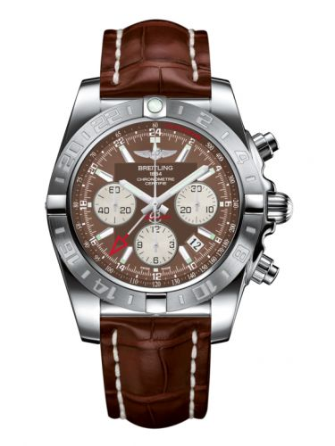 Chronomat 44 GMT Stainless Steel / Metallica Brown / Croco