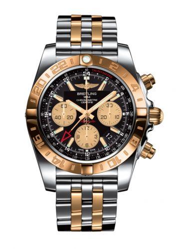 Chronomat 44 GMT Stainless Steel / Rose Gold / Onyx Black / Bracelet