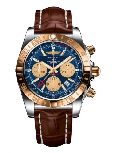 Chronomat 44 GMT Stainless Steel / Rose Gold / Metallica Blue / Croco