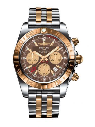 Chronomat 44 GMT Stainless Steel / Rose Gold / Metallica Brown / Bracelet