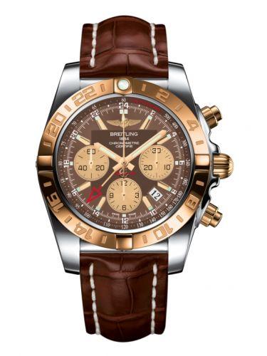Chronomat 44 GMT Stainless Steel / Rose Gold / Metallica Brown / Croco