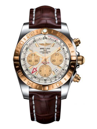 Chronomat 44 GMT Stainless Steel / Rose Gold / Sierra Silver / Croco
