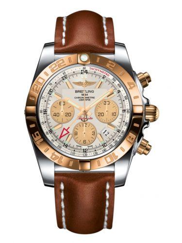 Chronomat 44 GMT Stainless Steel / Rose Gold / Sierra Silver / Calf