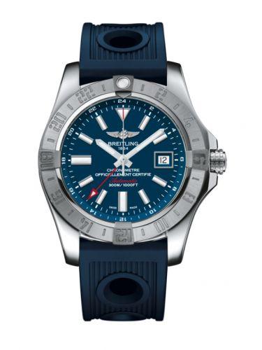 Avenger II GMT Stainless Steel / Mariner Blue / Rubber