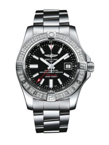 Avenger II GMT Stainless Steel / Diamond / Volcano Black / Bracelet