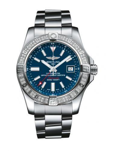 Avenger II GMT Stainless Steel / Diamond / Mariner Blue / Bracelet