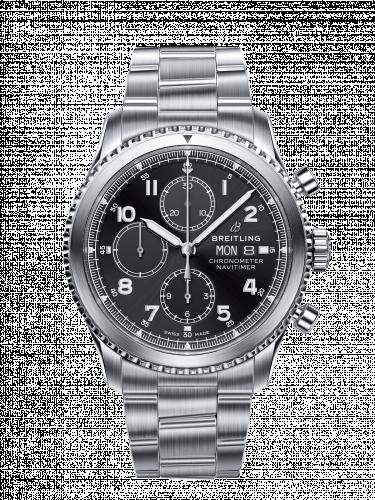 Navitimer 8 Chronograph 43 Stainless Steel / Black / Bracelet