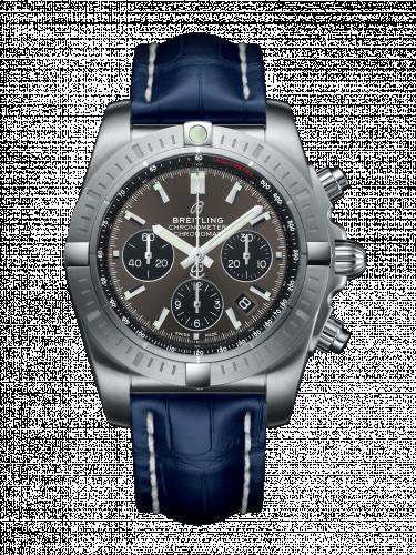 Chronomat B01 Chronograph 44 Stainless Steel / Blackeye Grey / Blue Croco