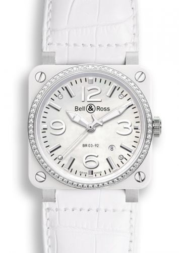 BR 03 92 White Ceramic / Diamond