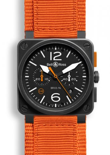BR 03 94 Carbon Orange Chronograph