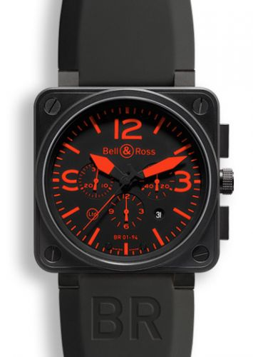 BR 01 94 Red Chronograph