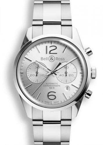 BR 126 Officer Silver Chronograph