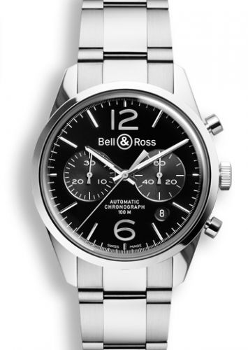BR 126 Officer Black Chronograph