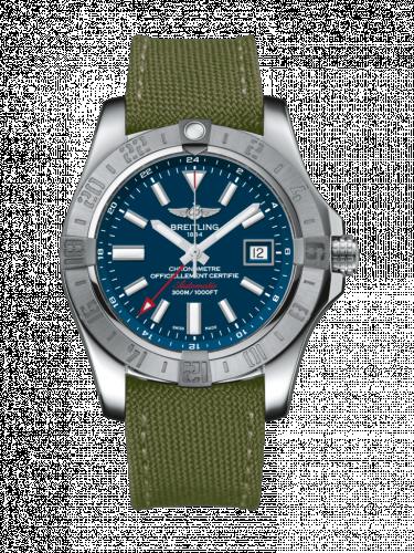 Avenger II GMT Stainless Steel / Mariner Blue / Military / Pin
