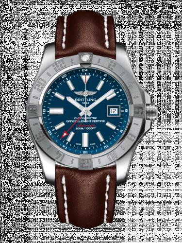 Avenger II GMT Stainless Steel / Mariner Blue / Calf / Pin
