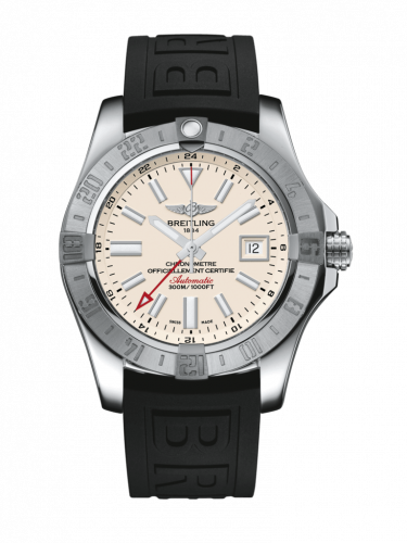Avenger II GMT Stainless Steel / Stratus Silver / Rubber / Pin